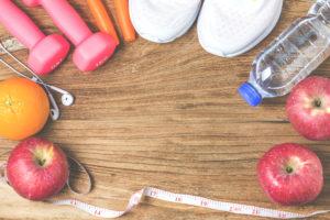 fit zdrowie aktywny tryb życia zdrowa żywność owoce woda sport jabłka
